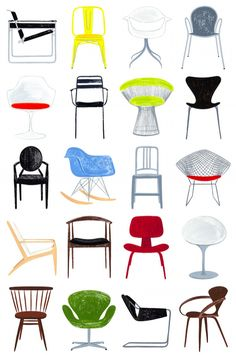 CHAIRS: eames, breuer, tolix, emeco, cherner, bertoia, starck, planter, wegner, and more!