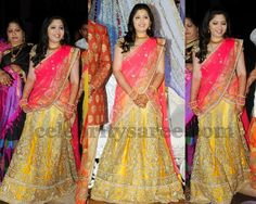 Bride in Mustard Half Saree