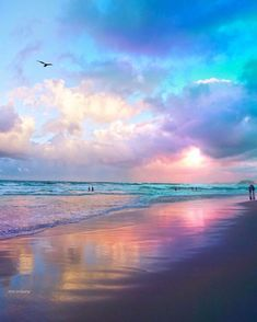 Ocean, beach, and clouds Beautiful Sunset, Beautiful Beaches, Beautiful Sky Pictures, Landscape Photography, Nature Photography, Night Photography, Beach Wallpaper, Sky Aesthetic, Aesthetic Backgrounds
