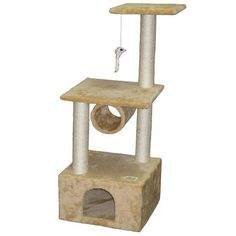 Cat Tree Furniture Condo Post House Pet Scratcher Play 43 Home Activity Fun New * To view further for this item, visit the image link.