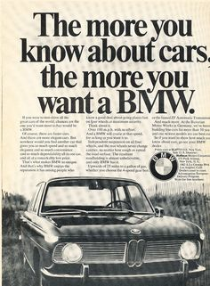 1967 BMW 1800 2000 Vintage Advertisement Car Print Ad J381 | eBay