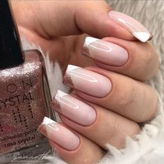 French Pedicure, French Manicure Nails, Manicure And Pedicure, Minimalist Nails, Color For Nails, Nagellack Trends, Fire Nails, Nail Trends, Nail Arts