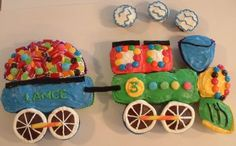 Train Cake Picture- How To Make A Train Birthday Cake - Perfect Party Ideas.com
