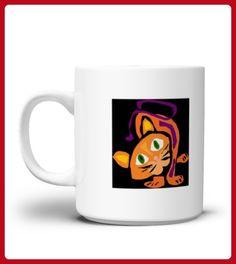 Funny Orange Tiger Cart Modernistic Art Mug - Tiger shirts (*Partner-Link)