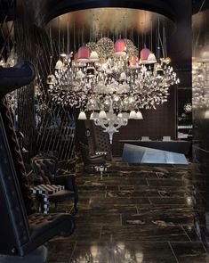 Mega Chandelier by Moooi. SO Hotel, Auckland, New Zealand. Pendant Chandelier, Pendant Lighting, Modern Lighting Design, How To Make Light, Auckland, Chandeliers, New Zealand, Lamps, Art Pieces