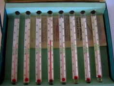 Vintage thermometer swizzles