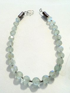 Faceted green Aquamarine necklace