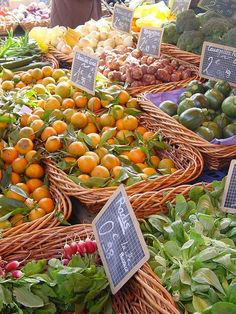 South of France market wares. Fruit and veg stall, Sanary | by Blue Blanket