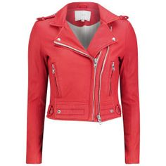 IRO Women's Leather Luiga Jacket - Red: Image 1