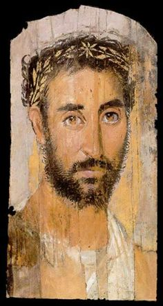 roman portrait painting | Funerary Portrait Painting of a Man from the Roman Period
