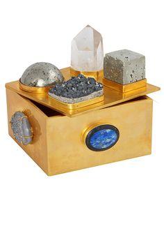 Kelly Wearstler Mixed Pyrite Bauble Box. #kellywearstler