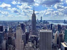 Rockefeller Plaza'nın tepesinden New York..