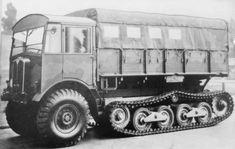 A halftrack Matador truck.