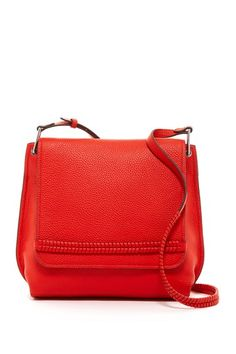 Vince Camuto Astra Leather Flap Crossbody Bag  💕Fiery Red ~ Me Wanty❣️