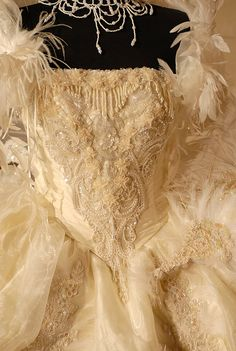 feathered Baroque 18th century rococo inspired
