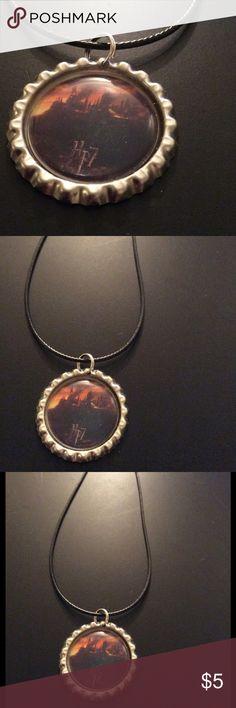 NWOT handmade HP7 hogwarts bottle cap necklace NWOT handmade HP7 hogwarts bottle cap necklace Jewelry Necklaces