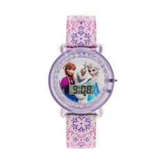 Disney Frozen Anna, Elsa and Olaf Kids' Digital Watch, Girl's, multicolor