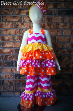 Girls Boutique Birthday Outfit Ruffles Outfit by divagirlboutique, $69.50