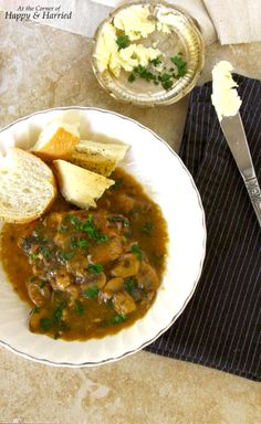 Red Wine Braised Chicken With Onions, Mushrooms, Garlic & Parsley