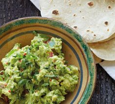 Chunky Guacamole,Make this delicious dip when avocados are plentiful and cheap. Serve with Fresh Flour Tortillas or as a snack with tortilla chips or raw vegetable crudités. Chunky Guacamole Recipe, Best Guacamole Recipe, Food Network Recipes, Cooking Recipes, Healthy Recipes, Easy Recipes, Cooking Ideas, Delicious Recipes, Food Ideas
