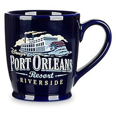 Port Orleans Resort Mug | Disney Store Revisit the picturesque setting of Disney's Port Orleans Resort every time you drink from this souvenir mug. The large paddlesteamer pictured on this ceramic cup will evoke the romance of rural Louisiana as you recall your fun vacation.