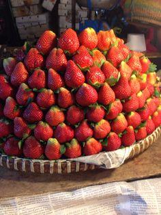Fresh strawberries at Baguio City Public Market. Strawberry Place, Baguio City, Filipino Desserts, I Foods, Strawberries, Philippines, Public, Fresh, Eat