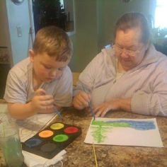 #Dementia therapy - both in the form of art and time spent with children. #AlzActivity #Alzheimers