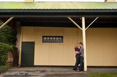 Engagement shoot at Boordy Vineyards