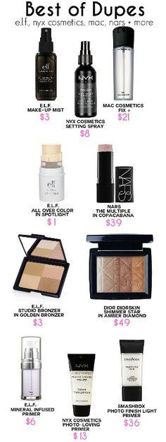 makeup dupes