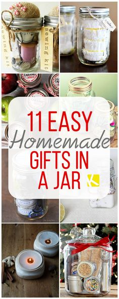 11 DIY Mason Jar Gift Ideas for Christmas