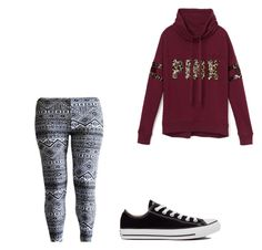 """""""Untitled #54"""" by amysonmaijah on Polyvore featuring Victoria's Secret PINK and Converse"""