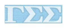 Car decals of Gamma Sigma Sigma