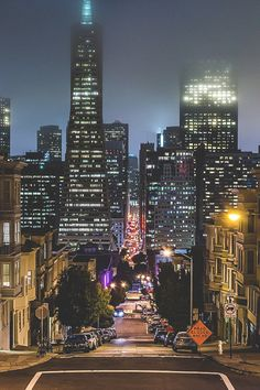 San Francisco by night by Oliver K. by San Francisco Feelings San Francisco Sites, Barcelona, San Francisco California, California Usa, Dream City, Canada, Dalai Lama, City Lights, Night Lights
