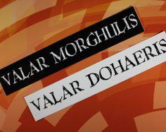 Resultado de imagen para valar morghulis valar dohaeris tattoo