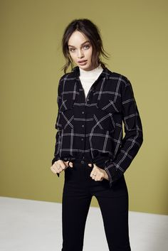 We love the shirt/turtleneck combo | Gina Tricot Collections | www.ginatricot.com | #ginatricot