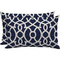 Mainstays Outdoor Patio Lumbar Toss Pillow, Set of Multiple Patterns Available, Blue Yellow Wall Decor, Yellow Walls, New Living Room, Toss Pillows, Tossed, Pillow Set, Walmart, Patio, Patterns