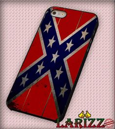 "Confederate Flag Rebel Flag South for iPhone 4/4s, iPhone 5/5S/5C/6/6 , Samsung S3/S4/S5, Samsung Note 3/4 Case ""007"""
