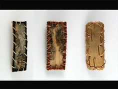 Birch bark barrettes, made from local woodpiles, in Michigan's Upper Peninsula.