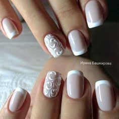 White nails, elegant