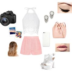 A fashion look from June 2015 by katy-nes-cata featuring Miguelina, STELLA McCARTNEY, Glamorous, Talbots, Forever 21, Easy Spirit and Eos