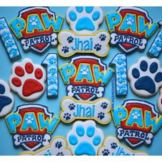 Paw patrol sugar cookies, sugar cookies, decorated sugar cookies Www.aujanessweets.com