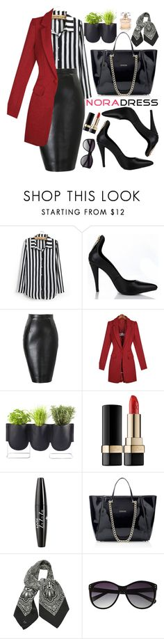 """""""Nora Dress"""" by oshint ❤ liked on Polyvore featuring Authentics, Dolce&Gabbana, NYX, H&M, Vince Camuto, Elie Saab and noradress"""