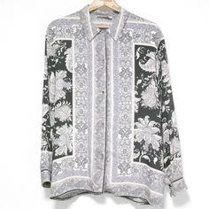 La Magica Rayon Long Sleeve Shirt Size: L