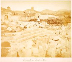 A rare photograph of the Archaeological site of Elefsina, back in the 1870 (aproximately). Photo by Moraitis. Archaeological Site, Old Photos, Mount Rushmore, Photograph, Museum, Mountains, Nature, Travel, Antique Photos