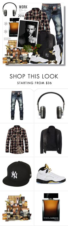 """""""Perfect colleague fit"""" by carleen1978 ❤ liked on Polyvore featuring Master & Dynamic, Gucci, New Era, NIKE, Dolce&Gabbana, Ray-Ban, men's fashion and menswear"""