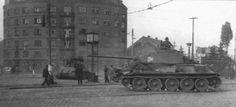 Танки Т-34-85 31-го танкового корпуса в Праге