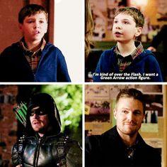 Well, the Green Arrow is pretty amazing. #Arrow #Season4 #4.15