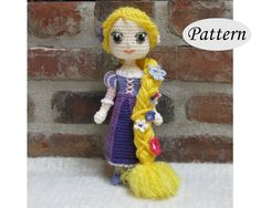 PATTERN Rapunzel Amigurumi Crochet Doll Photo Tutorial