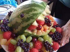 Moms shark fruit platter
