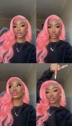 Baddie Hairstyles, Black Girls Hairstyles, Weave Hairstyles, Pretty Hairstyles, Colored Wigs, Coloured Hair, Beautiful Black Girl, Pretty Black Girls, Hair Inspo